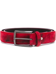 Al Duca Da Aosta 1902 Distressed Belt Red