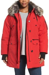 Lucky Brand Plus Size Women's Faux Fur Trim Parka