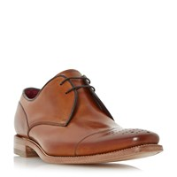 Loake Crawford Punched Toecap Gibson Shoes Tan