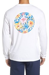 Tommy Bahama Men's Big And Tall 'Relax Ninety Three' Graphic Long Sleeve T Shirt White