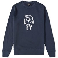 A.P.C. Portrait Crew Sweat Blue