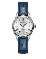 Hamilton Valiant American Classic Round Leather Band Watch Blue