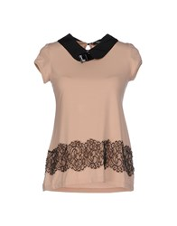 Cristinaeffe Collection Topwear T Shirts Women Skin Color