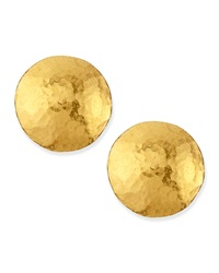 Lentil 24K Gold Round Stud Earrings Gurhan