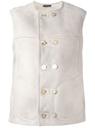 Joseph Double Breasted Vest White