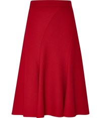 Cc Textured Swirl Panel Flared Skirt