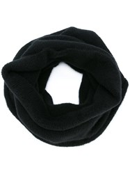 Isabel Benenato Neck Warmer Scarf Black