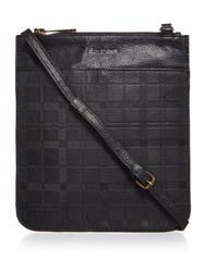 Barbour Leather Embossed Crossbody Bag Black