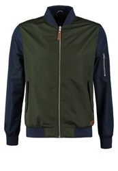 Knowledge Cotton Apparel Summer Jacket Night Forrest Dark Green