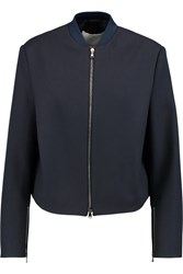 3.1 Phillip Lim Cropped Wool Bomber Blue