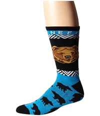 Neff Bear Socks Blue Men's Crew Cut Socks Shoes
