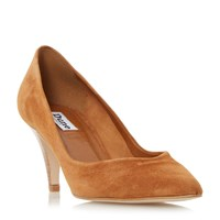 Dune Adelaide Pointed Mid Heel Court Shoes Brown