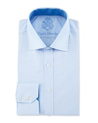 English Laundry Dot Pattern Striped Dress Shirt Blue White
