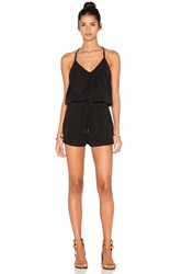 Blank Nyc V Neck Romper Black