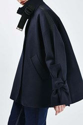 Boutique Funnel Taped Jacket By Navy Blue