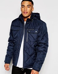 Ringspun Jacket Sermon Jacket With Quilted Panels Navy