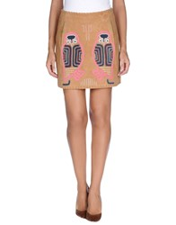 Paul And Joe Skirts Mini Skirts Women Camel