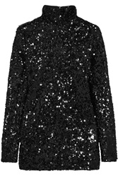 By Malene Birger Zio Sequined Satin Jersey Top