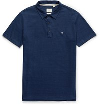 Rag And Bone Indigo Dyed Cotton Polo Shirt