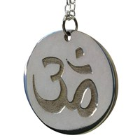 Carved Solutions Sterling Silver Om Necklace