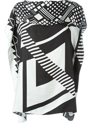 Pierre Louis Mascia Pierre Louis Mascia Geometric Print Top Black