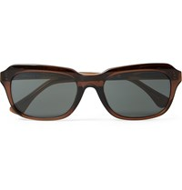 Dries Van Noten Square Frame Acetate Sunglasses Brown