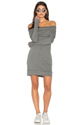 Michael Stars Off The Shoulder Mini Dress Grey