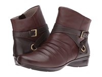 Naturalizer Cycle Bridal Brown Oxford Brown Leather Women's Boots