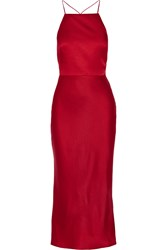Jason Wu Crepe De Chine Midi Dress Claret