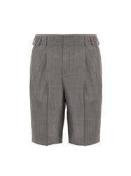Balenciaga Micro Check Tailored Wool Blend Shorts