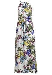 Soaked In Luxury Maxi Dress White Green