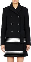 Paco Rabanne Double Breasted Swing Coat Black Size 36 Fr