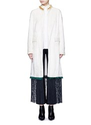 Toga Archives Fringe Hem Moquette Coat White