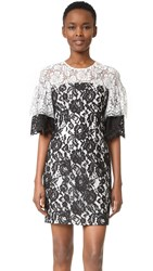 Black Halo Farrow Lace Dress Black White