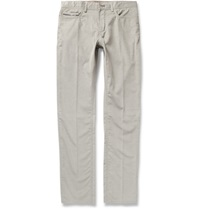 Berluti Cotton And Cashmere Blend Corduroy Trousers Gray