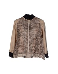 Sacai Suits And Jackets Blazers Women Beige