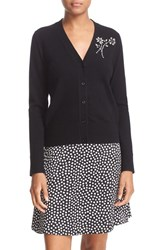Kate Spade Women's New York Embellished Brooch Cardigan