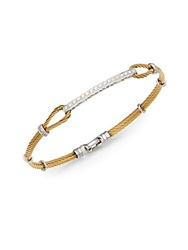 Charriol Diamond 18K Yellow Gold And Steel Bracelet