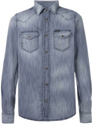 Diesel Washed Denim Shirt Blue