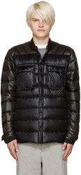 Isaora Ssense Exclusive Green And Black Down Jacket