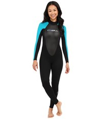 O'neill Reactor 3 2 Full Black Turquoise Black Women's Wetsuits One Piece