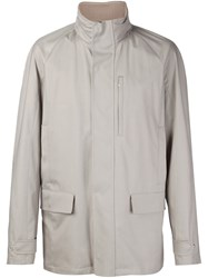 Loro Piana Classic Wind Breaker Jacket Nude And Neutrals