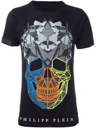 Philipp Plein 'Rainbow Colors' T Shirt Black