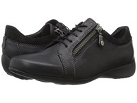 Wolky Bonnie Black Leather Women's Lace Up Casual Shoes