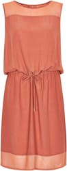 Soaked In Luxury Dress With Drawstring Waist Pink