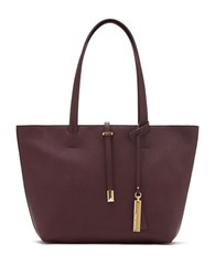 Vince Camuto Leila Small Leather Tote Plum