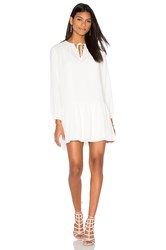 Three Eighty Two August Peasant Dress White