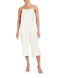 1.State Jersey Drop Waist Culotte Jumpsuit White