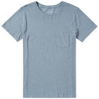 Save Khaki Heavy Jersey Pocket Tee Blue