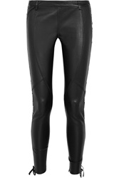 Faith Connexion Lace Up Leather Skinny Pants